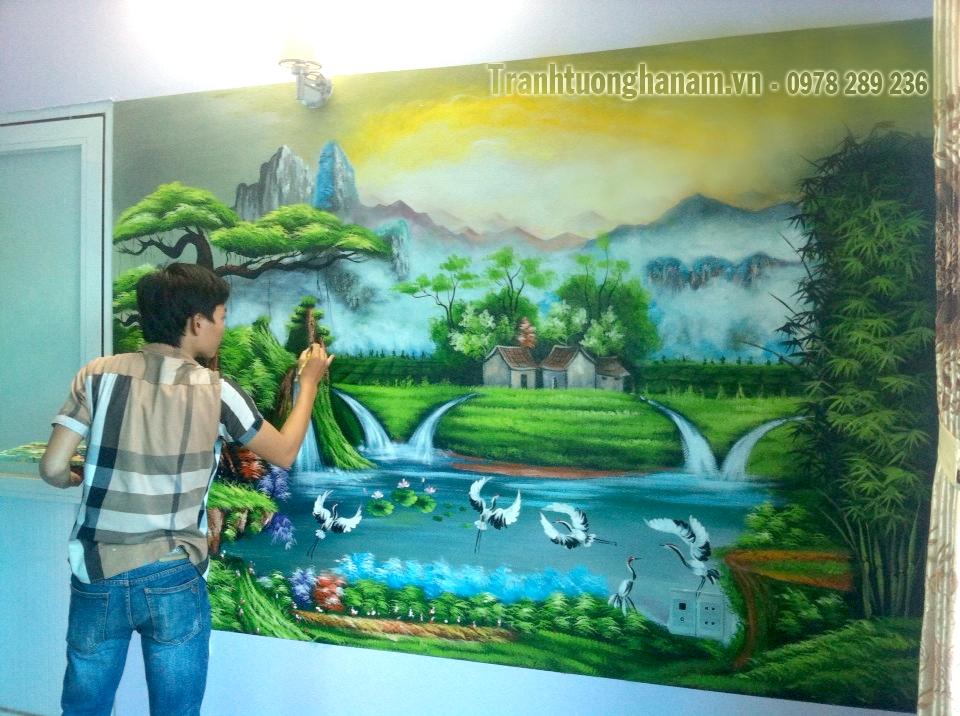 Vẽ tranh tường tại Phủ Lý – Hà Nam