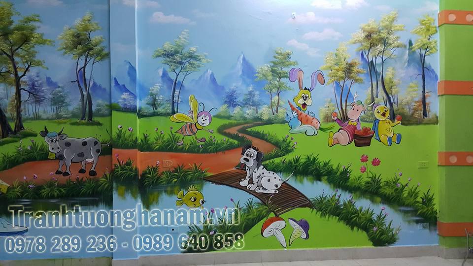 TRANH TƯỜNG MẦM NON giá rẻ nhất Hà Nam