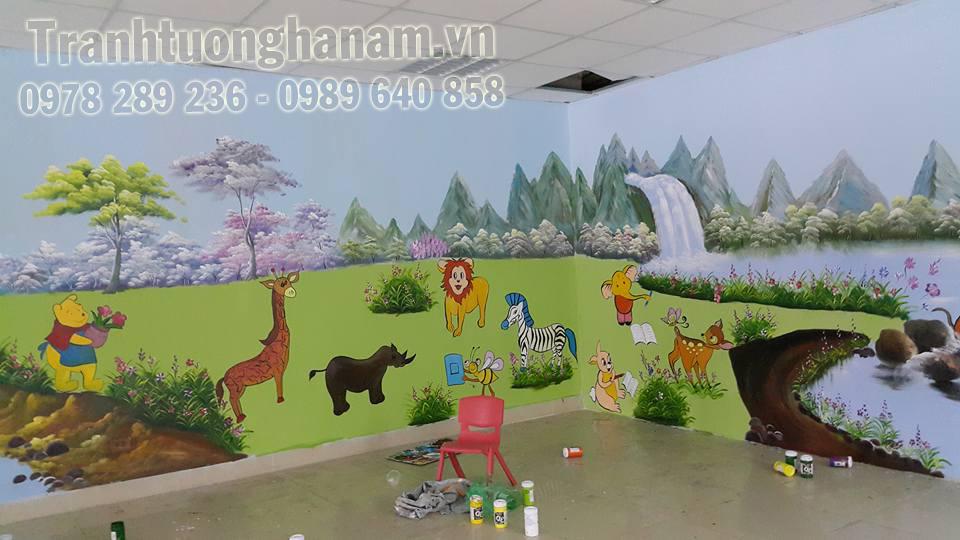 Vẽ tranh tường mầm non giá rẻ tại Hà Nam