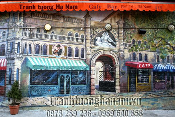 Vẽ TRANH TƯỜNG quán Cafe siêu Ấn tượng
