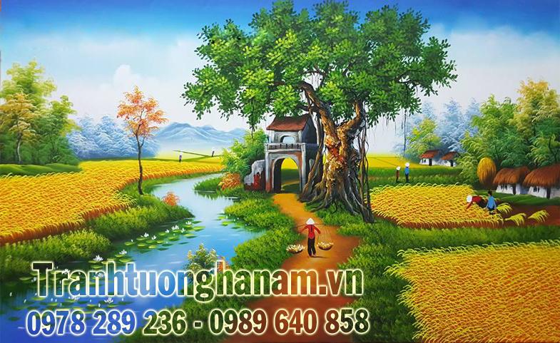 Vẽ tranh ĐỒNG QUÊ trên quê hương Hà Nam