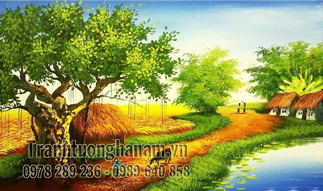 Tranh Tường Làng quê Việt Nam