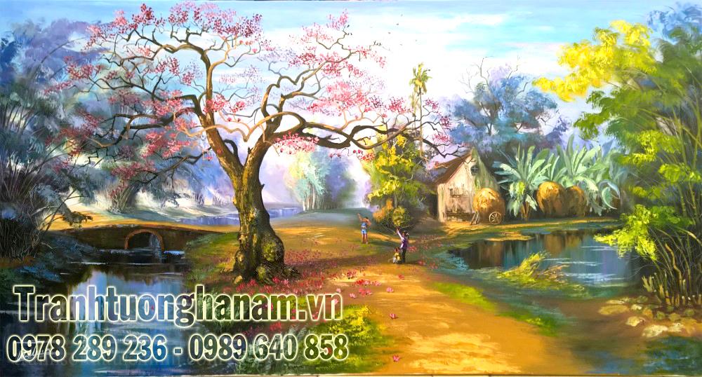 Vẽ tranh tường ĐỒNG QUÊ tại Đồng Văn – Hà Nam