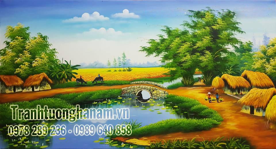 Vẽ tranh tường ĐỒNG QUÊ tại Vĩnh Trụ – Hà Nam