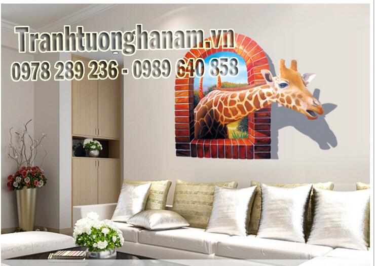 Huge-Large-Window-3D-Giraffe-Wall-Stickers-Decal-Art-Mural-Decal-Wallpaper-Home-Living-Room-Decor